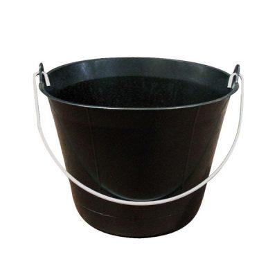 Seau maçon plastique noir 11 litres